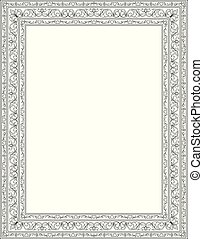 Floral template for frame.