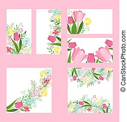 Floral  templates with cute bunches