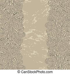 floral tervezés, határ, alatt, reneszánsz, mód