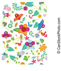 floral, textura