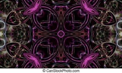 floral, texture, verre cristal, vitreux