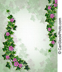 Floral textured template ivy - Illustration and image...