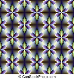 Floral Tile - Digital abstract image with a seamless tile ...