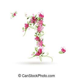 floral, ton, conception, premier