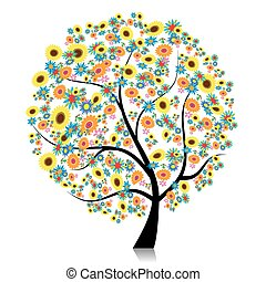 Floral tree beautiful for your design