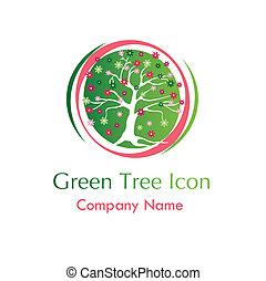 floral tree icon