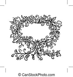 Floral tree with frame for your text