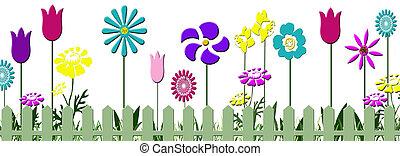 floral, tuin