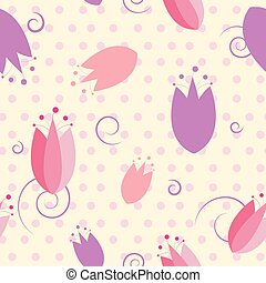 Floral tulip seamless pattern