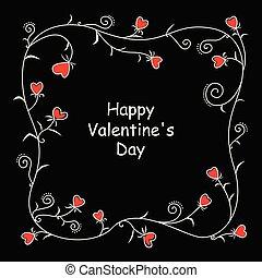 Floral valentine heart frame