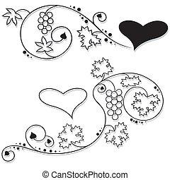 floral, valentines