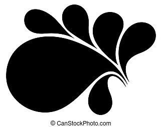 floral, vecteur, conception, retro, élément