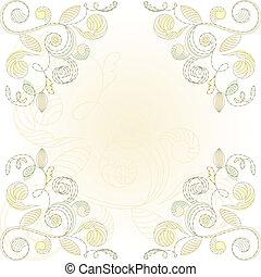 floral, vecteur, fond