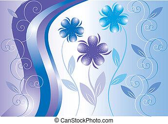 floral, vecteur, ornement