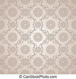 floral, vecteur, papier peint, classique