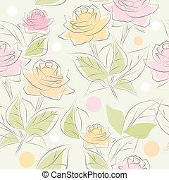 floral, vecteur, seamless, fond