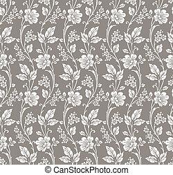 floral, vecteur, seamless, papier peint