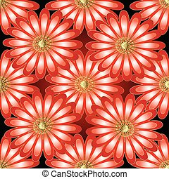 Floral vector 3d seamless pattern.