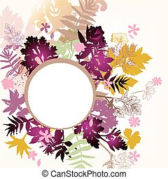 Floral vector background with autumn foliage