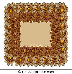 Floral vector card. EPS 10