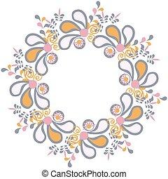 Floral vector card