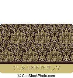 floral, vector., cartão