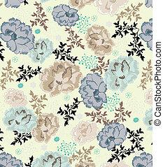 floral, vector, des, seamless, patrón