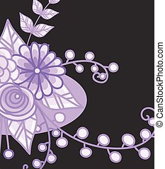 Floral Vector Design Background