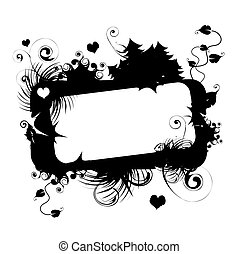 Floral vector frame with place for your text