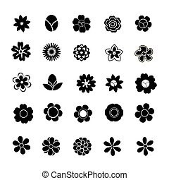 Floral vector on white background