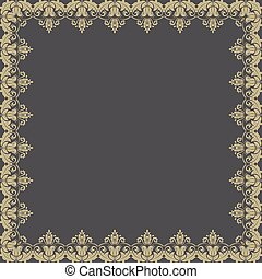 Floral Vector Pattern. Abstract Frame