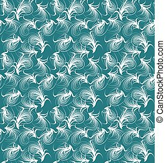 floral, vector, pattern., seamless