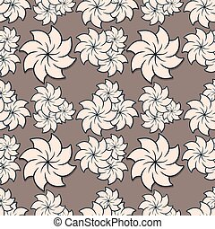 floral, vector, pattern., seamless, illustratie