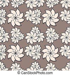 floral, vector, pattern., seamless, illustratie