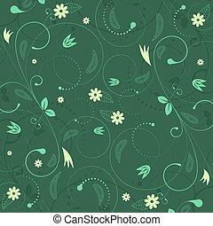 floral, vector, plano de fondo, con, vendimia, flor, pattern.