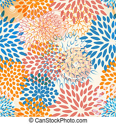 floral, vector, seamless, achtergrond