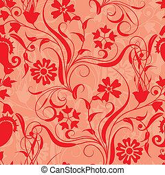 floral, vector, seamless, patrón