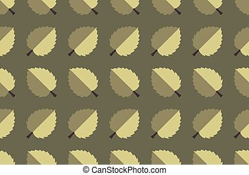 Autumn leaves on a dark olive background.