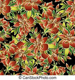 Floral vector seamless pattern.