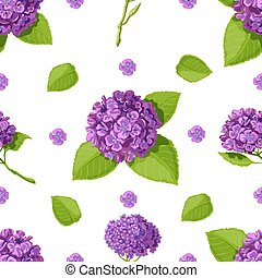 Floral vector with pattern hydrangeas.