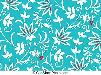 floral, vector, zich verbeelden, behang
