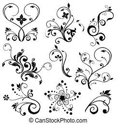 floral, vectors