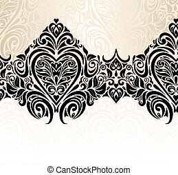floral, vendange, fond, mariage