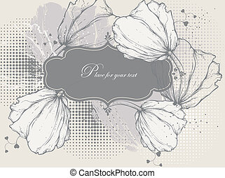 floral, vendange, fr, fond