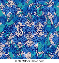 floral, vendange, puzzle, seamless, texture