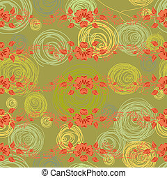 floral, vendange, seamless, fond