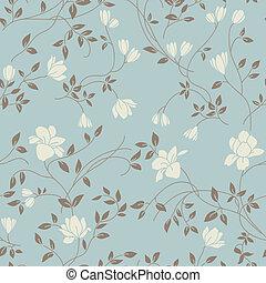 floral, vendange, seamless, modèle