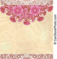 floral, vendimia, decorativo, backgroun
