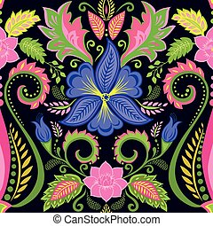floral, vendimia, papel pintado, viola
