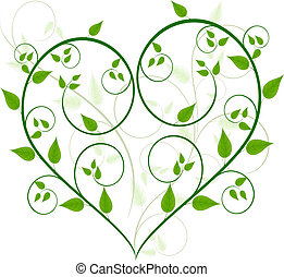 floral, vetorial, desenho